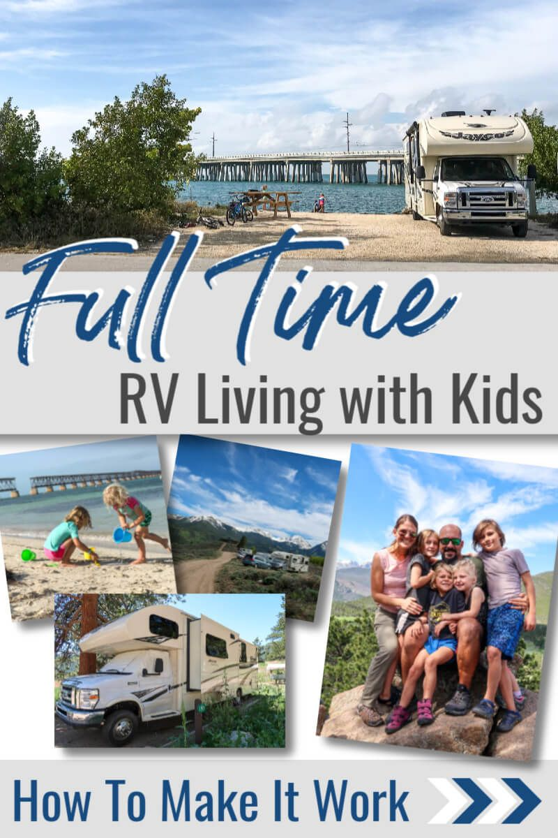 RV Living with Kids? How This Family of 6 Lives Full Time In An RV - 5 Minutes for Mom #rvliving