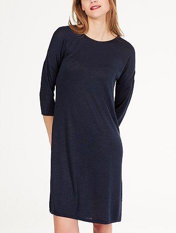 2442559e9c2 Robe droit en maille chinée gris chiné Femme - Kiabi