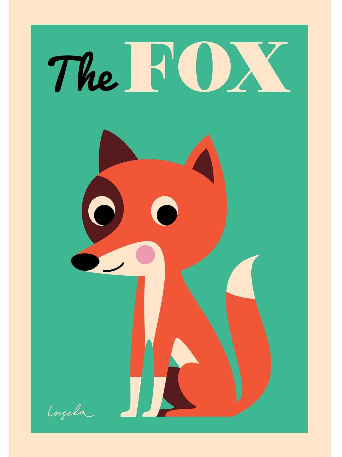 Poster design 50x70 - Ingela Arrhenius Fox Poster By Omm Design