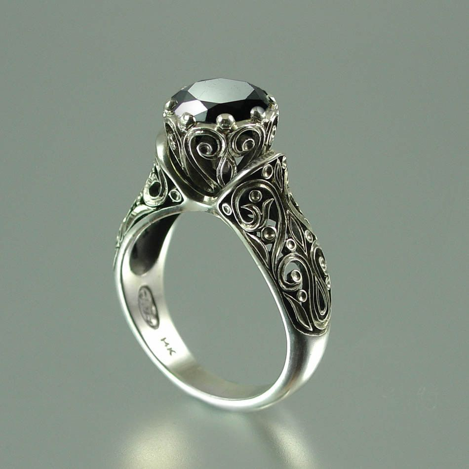 1000 images about black engagement rings on pinterest engagement