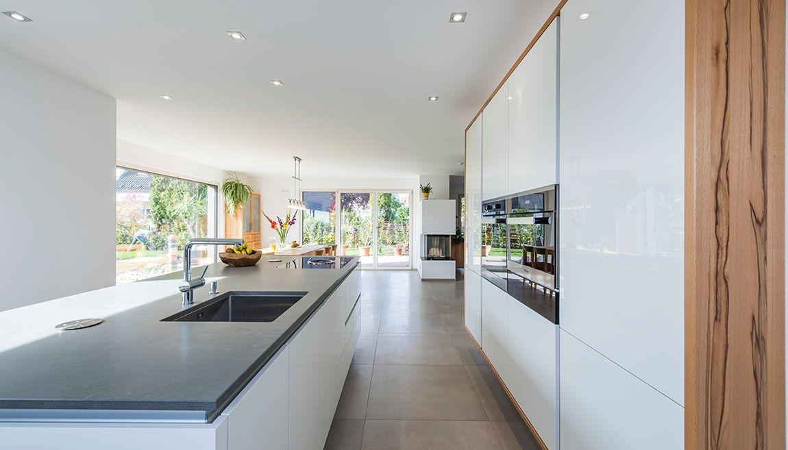 Moderne Offene Küche moderne offene küche mit blick auf essbereich interior