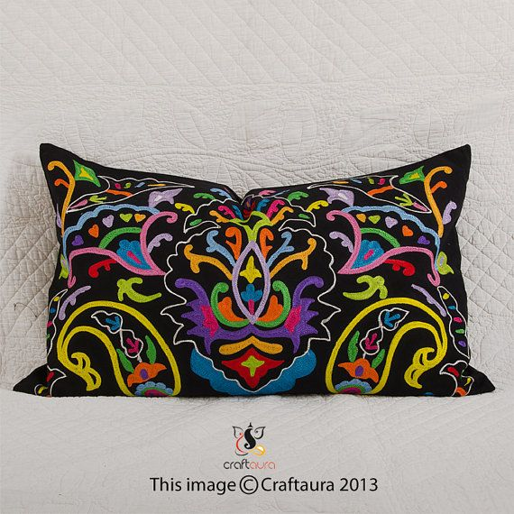 16x 24 Pillow Cover Suzani Throw By Craftaurahome On Etsy 19 99 Large Pillows