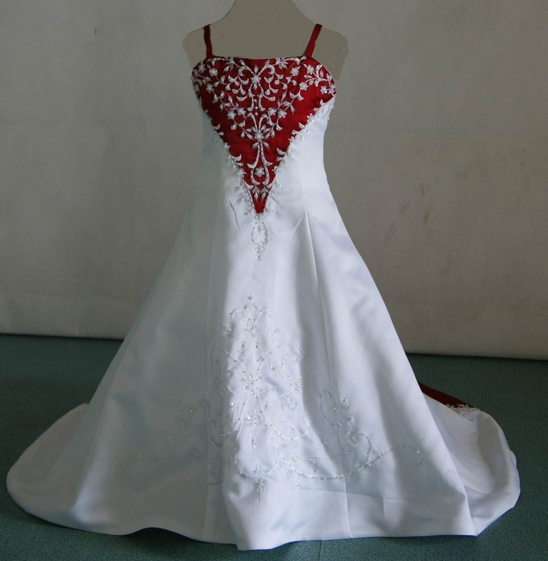 mb miniature bride including red and white baby wedding dresses
