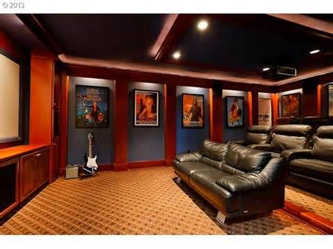 Vintage Movie Theater Decor, home theater decorating movie theater ...