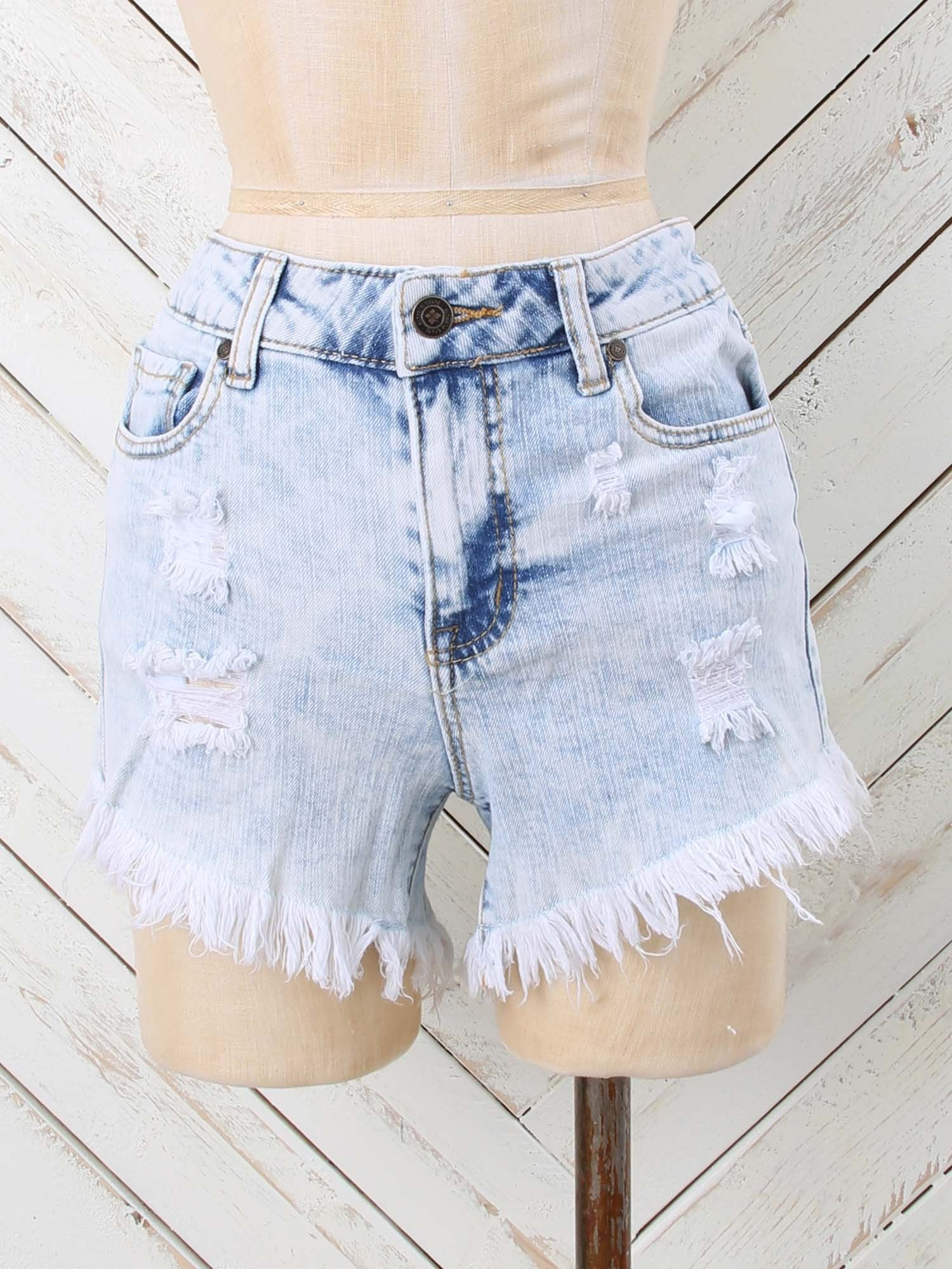 95749dc39be200 Altar'd State Wash Out Denim Shorts | Beach Getaway Fashion | Denim ...