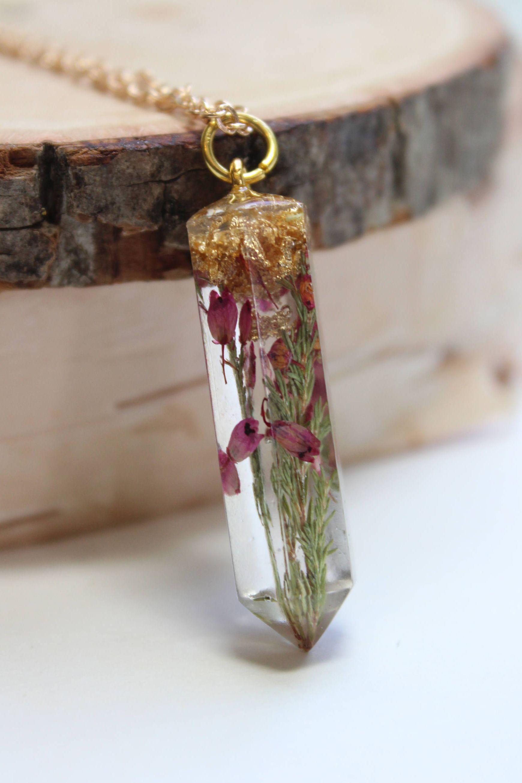 dried flowers necklace eternal rose real flowers pendant terrariumnecklace vintage pendant rose necklace floral pendant Dried rose