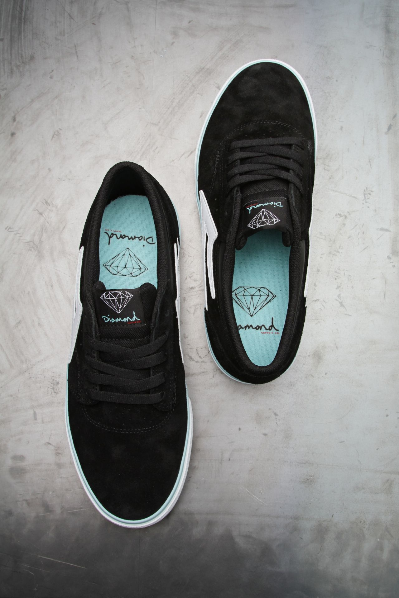 Skate shoes types - The Lakai Griffin Shoes In Diamond Blue Shoes