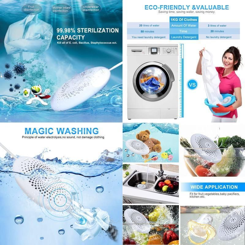 Portable Travel Washer Machine Disinfectant Washing