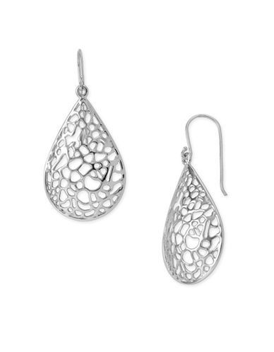 Argento Vivo Openwork Tear Drop Earrings Women's Silver