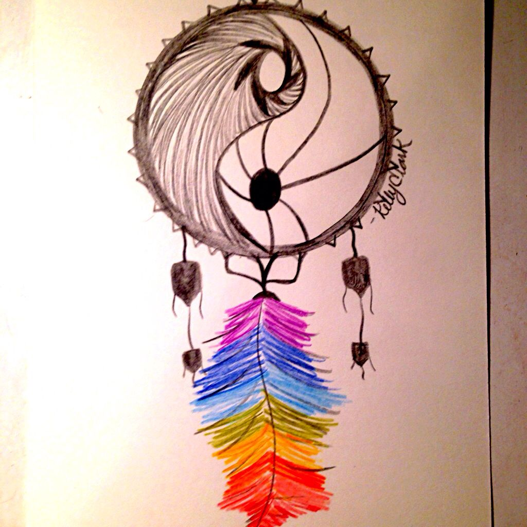 Color art dreamcatcher - Colored Pencil Art Project Dream Catcher For Business Inquiries Kac7392 Yahoo