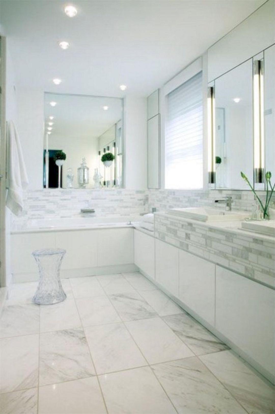 50+ Beautiful White Modern Bathroom Interior Design Ideas | Bathroom ...