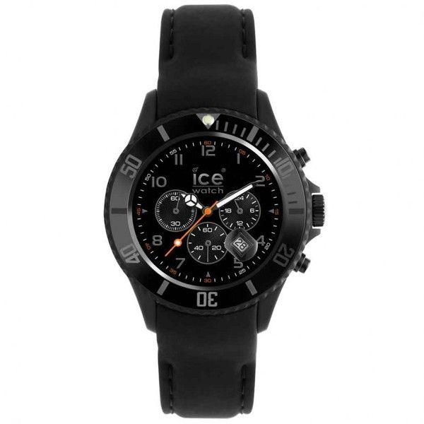 Ice Chrono Matte Black Ice Watch Chm.bk.b.s.12 Big | Cheapest Ice... ($225) ❤ liked on Polyvore