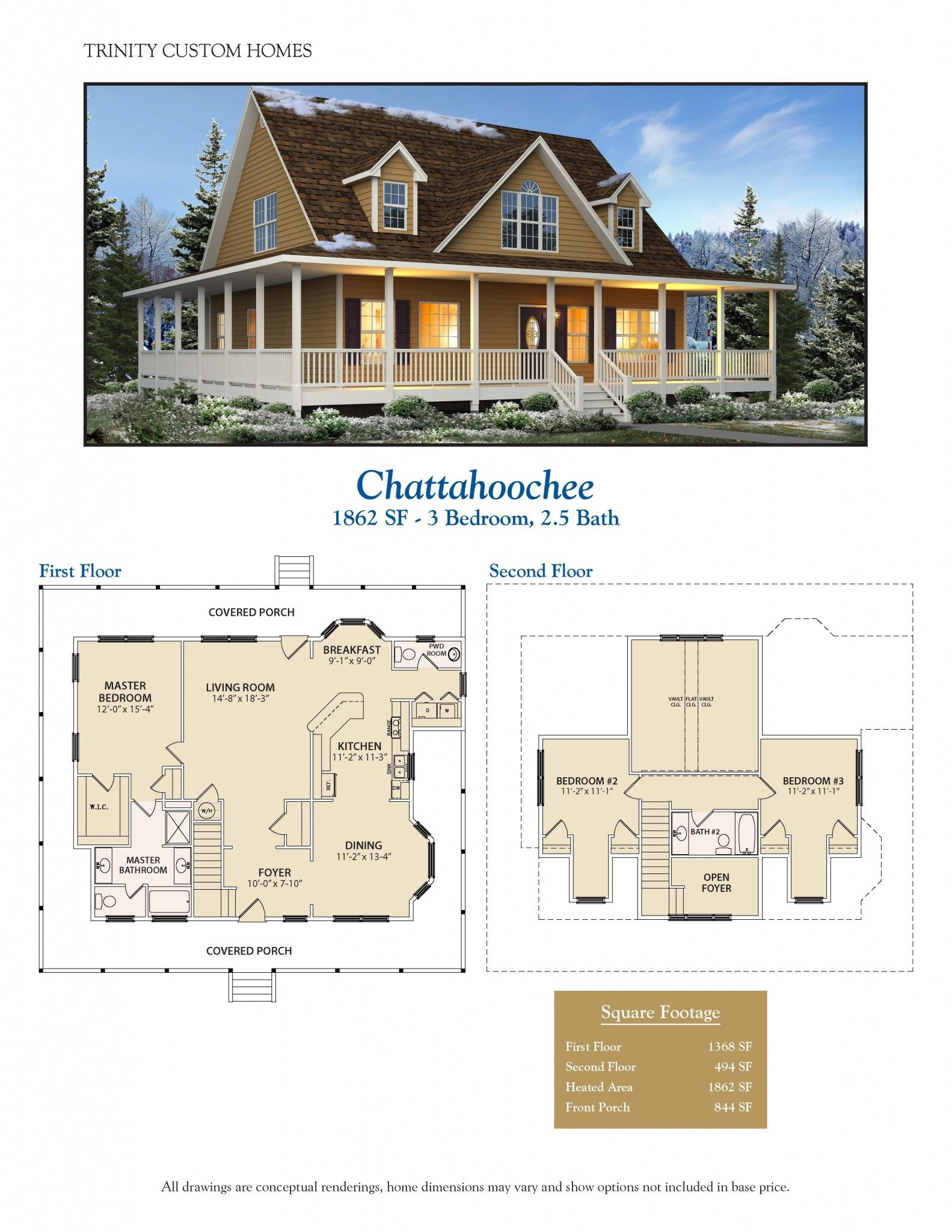Trinity custom homes montgomery al home review for Custom building plans