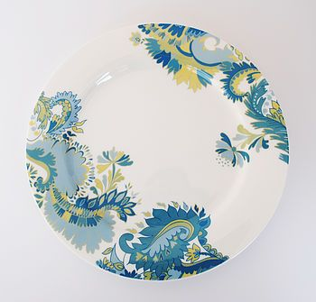 Are you interested in our bone china dinner plate? With our funky green jacobean dinner plate you need look no further.  sc 1 st  Pinterest & Jacobean Dinner Plate | Products Dinner and Dinner plates