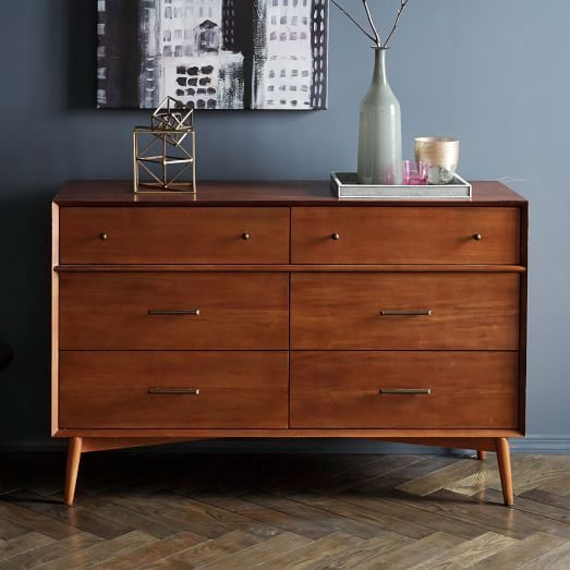 Mid-Century 6-Drawer Dresser - Acorn | west elm | Interior ...