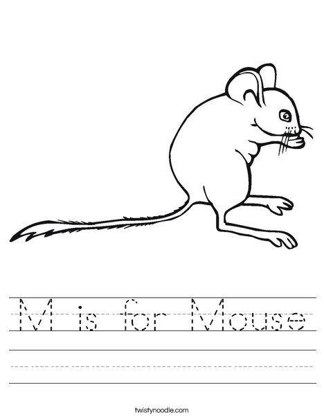 m is for mouse worksheet twisty noodle alphabet letters m n o p worksheets kids prints. Black Bedroom Furniture Sets. Home Design Ideas