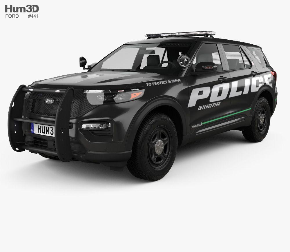 3d Model Of Ford Explorer Police Interceptor Utility 2020 Ford
