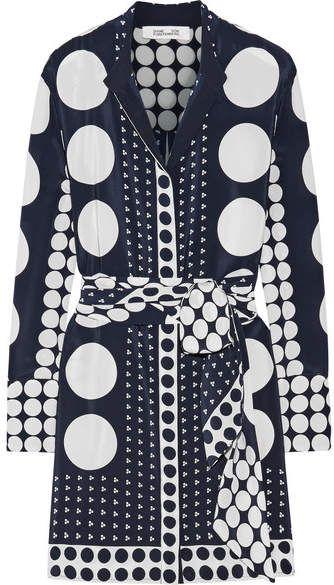 Discount Cheapest Price Printed Silk Crepe De Chine Mini Dress - Navy Diane Von Fürstenberg 2018 Online Affordable Sale Online Cheap Sale Official Site Discount Shop WO7VjMl