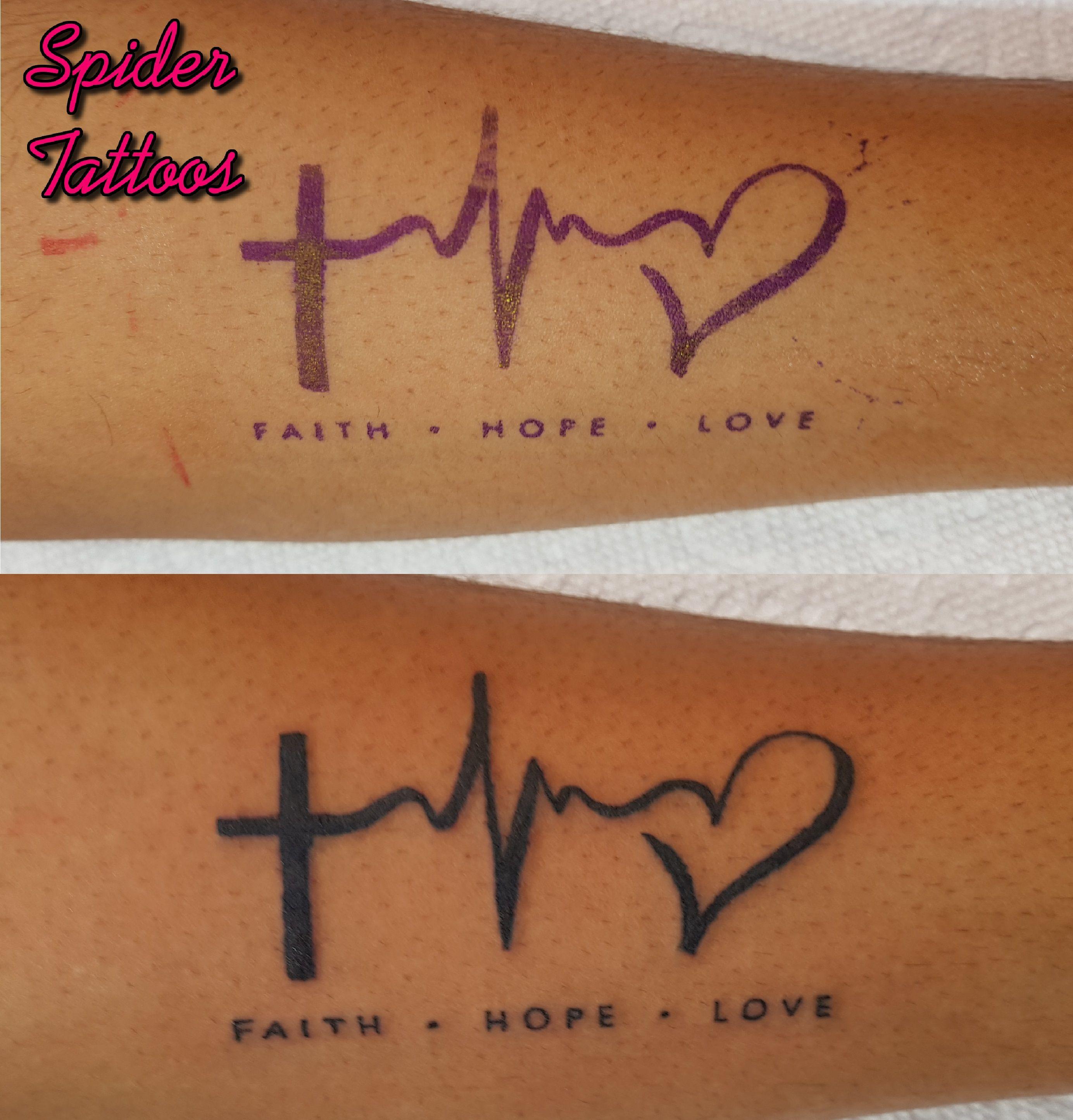 Faith Hope Love Symbol Tattoo By Spider Instagram