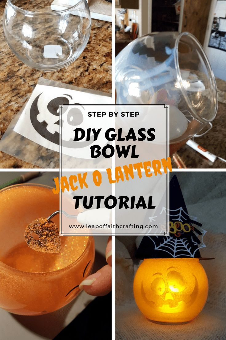 DIY Glass Bowl Jack O Lantern Glass pumpkins, DIY Halloween and - halloween decorations diy