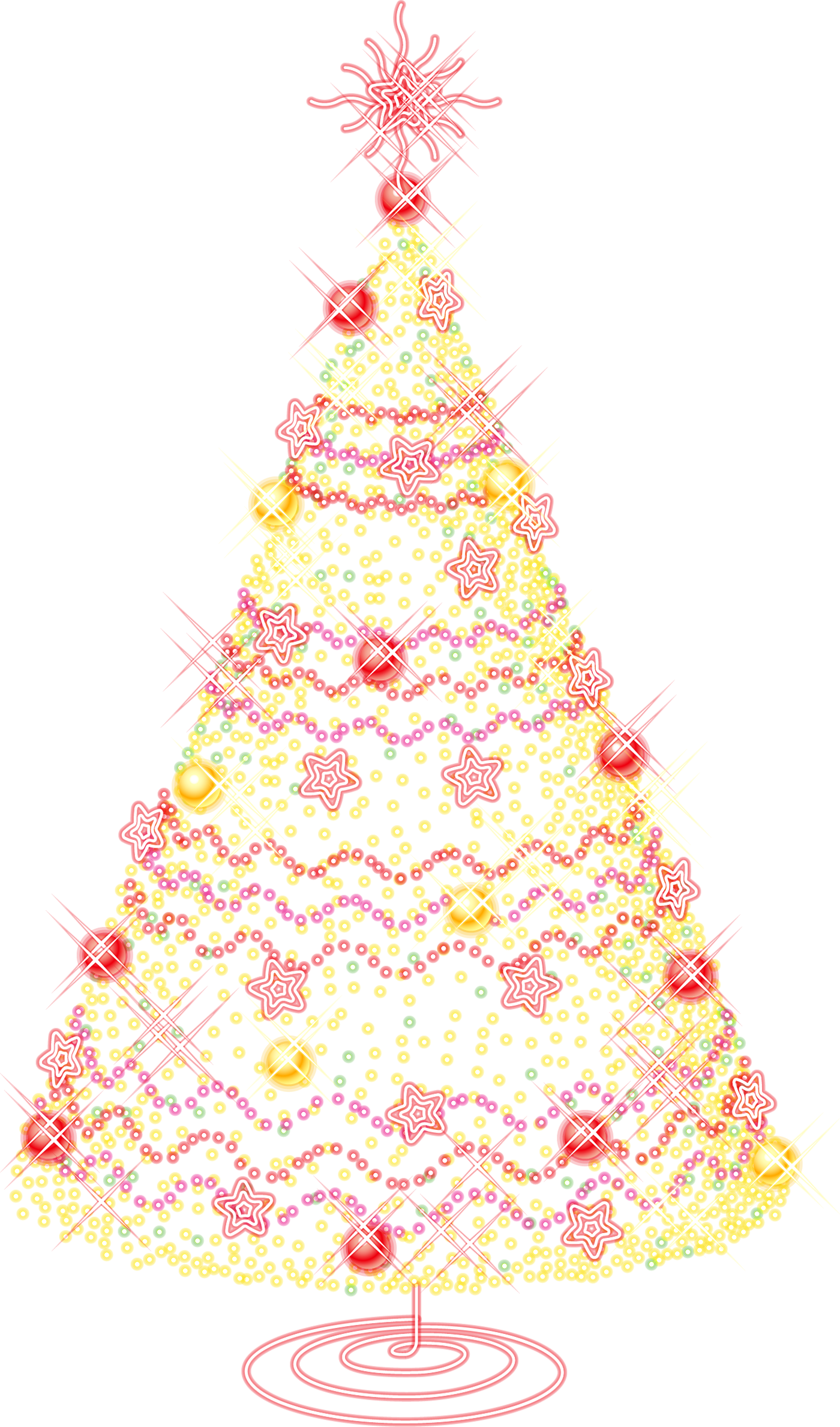 Large Gold Transparent Christmas Tree With Ornaments Png Clipart Christmas Tree Gif Christmas Tree Clipart Beautiful Christmas Trees