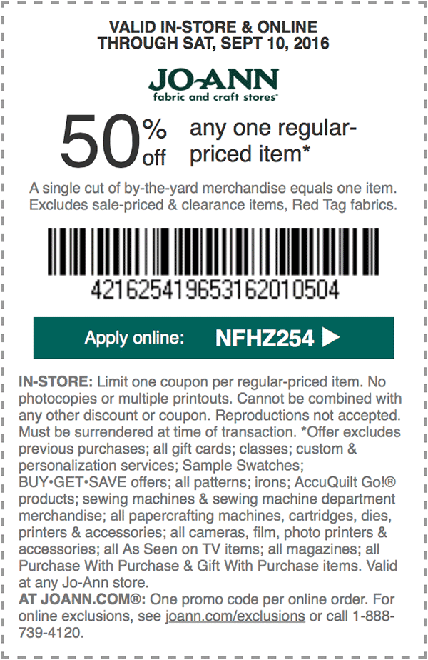 50 off any one regularpriced item. APPLY ONLINE NFHZ254