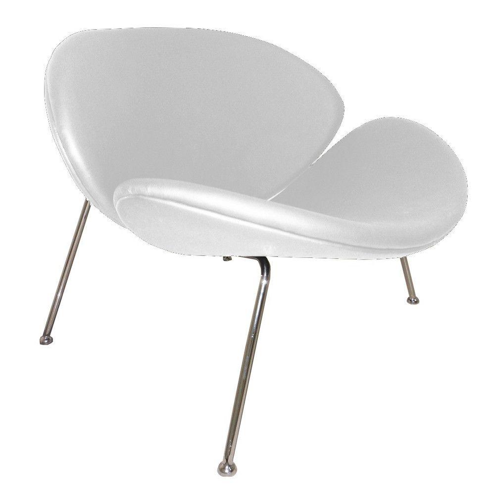 Finemod Imports Modern Slice Chair FMI10090 | Pelle bianca ...