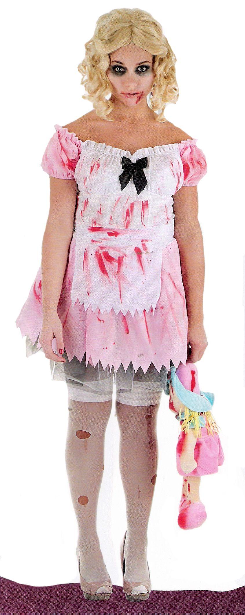 Disfraz de niña zombie halloween Disfraces de niños