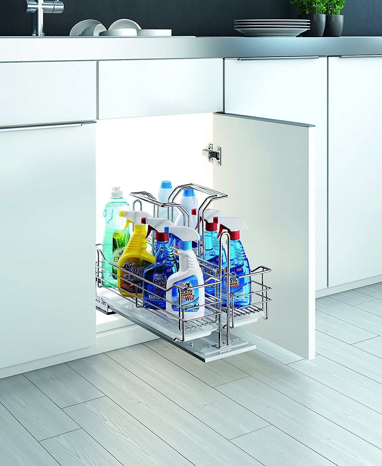 Amazon.com - Under Sink Organizer Pull Out Removable Sliding Shelf ...