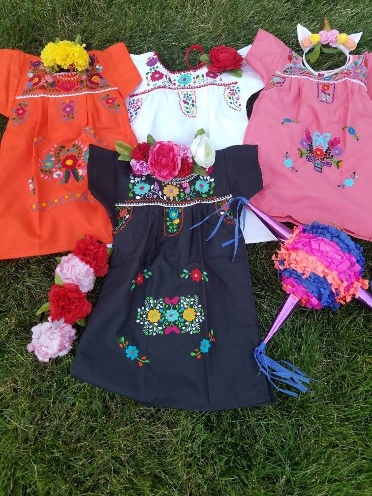Mexican Embroidered Dresses (toddler) | Mexican Fiesta | Pinterest