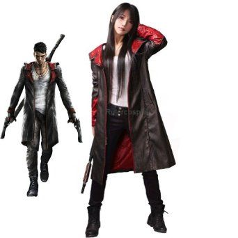 Rulercosplay Devil May Cry 5 Dante Leather Coat Cosplay Costume - Deluxe  Ver.