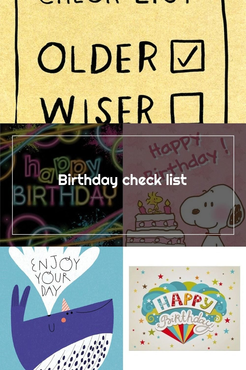 Funny Card Birthday Check List Older Wiser Comedy Card Company Funny Birthday Cards Birthday Cards Cards