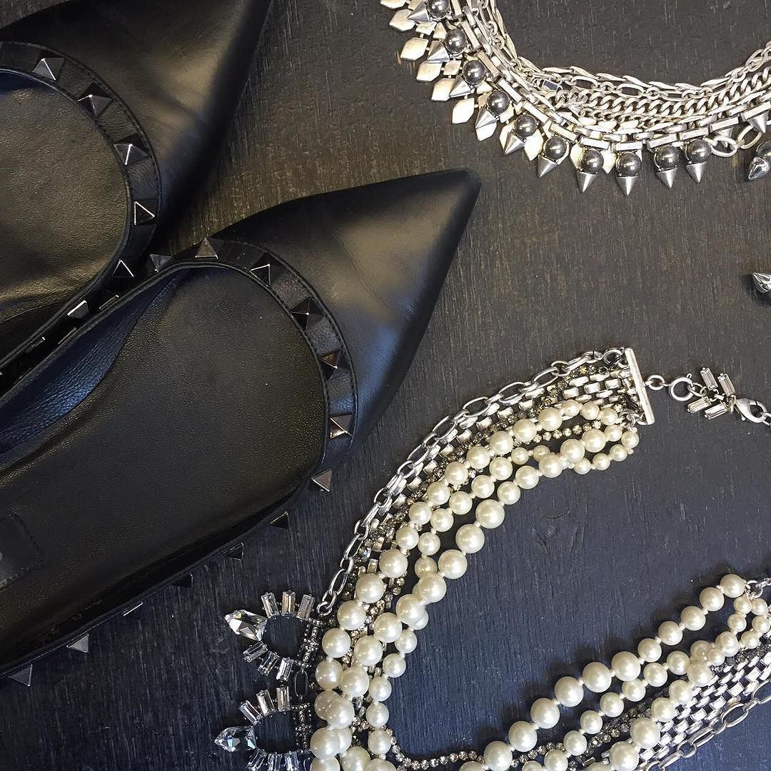 'Tis the season for holiday parties... and pearls & spikes are sure to stun. Ask your Stylist to help you get accessorized for your soireé!