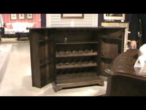 Hammary Furniture Fliptop, Fold Out Home Bar Cabinet.mov   Homeclick  Community