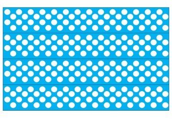 picture regarding Printable Bulletin Board Borders titled Blue and White Polka Dot Borders Bulletin Board Recommendations
