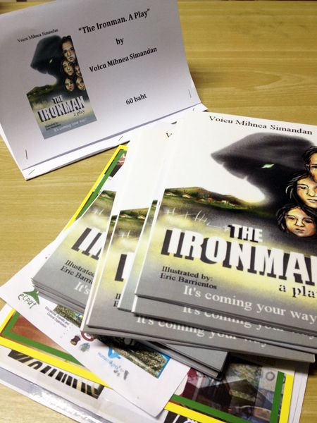 "Book signing event for ""The Ironman. A Play"""