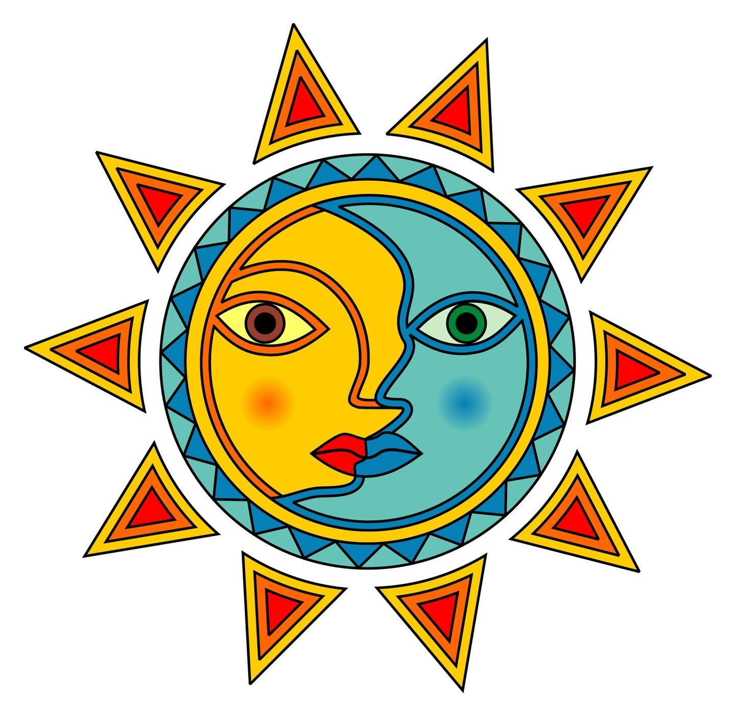sun and moon clip art clipart best celestial art pinterest rh pinterest com au sun and moon clipart black and white free sun moon and stars clipart