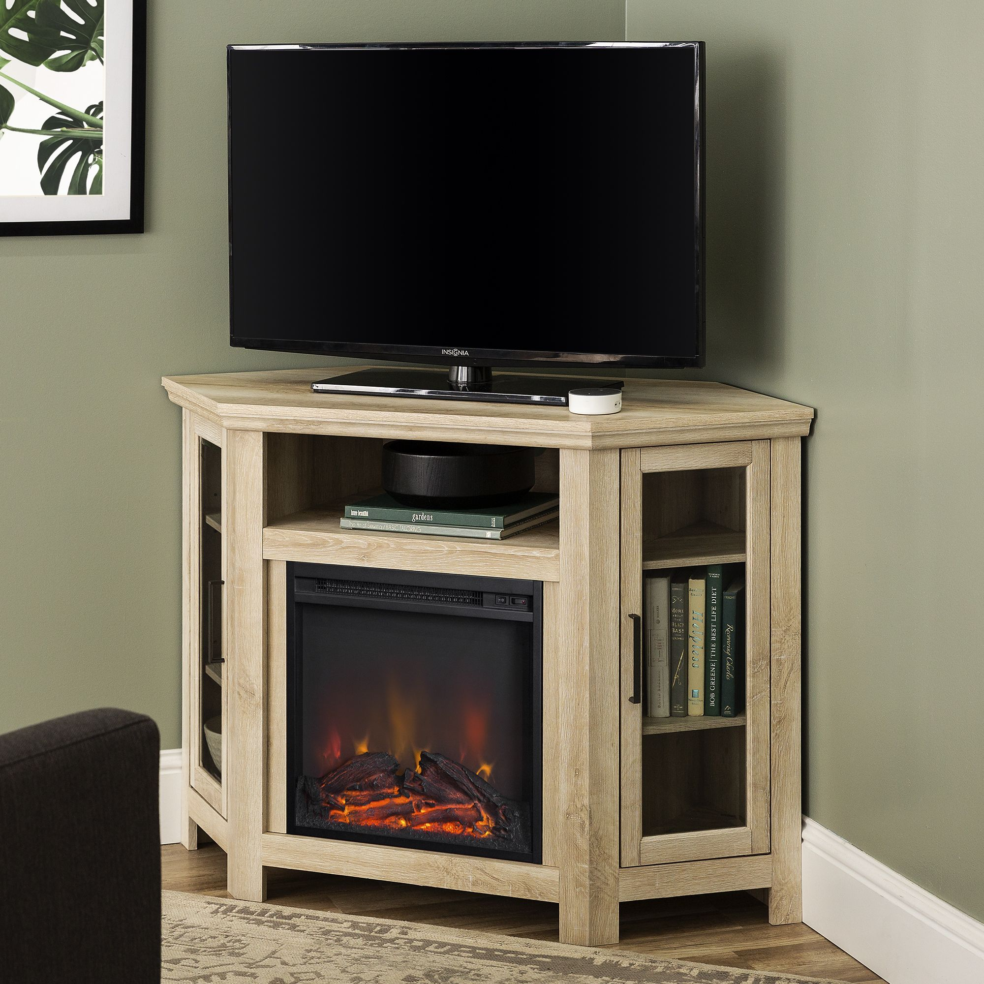 Home Fireplace tv stand, Corner fireplace tv stand