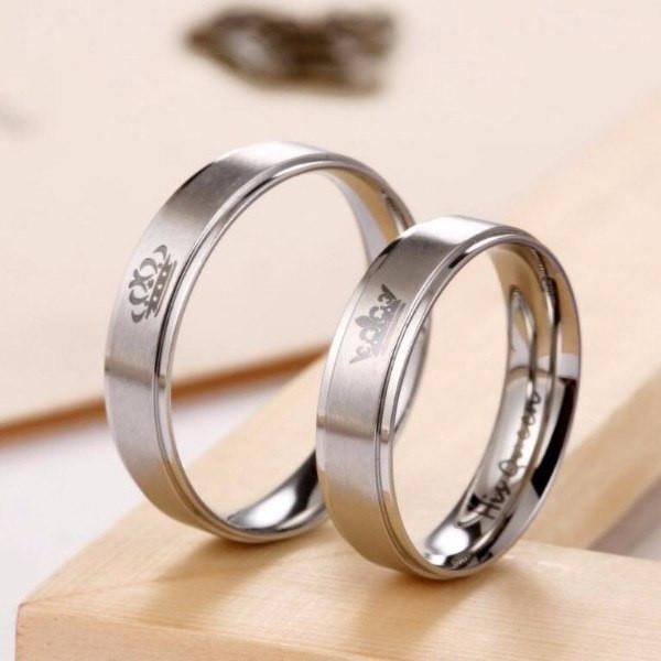 72a39e0cab0b0 His Queen' and 'Her King' Couple Ring | Engagement rings | Rings ...