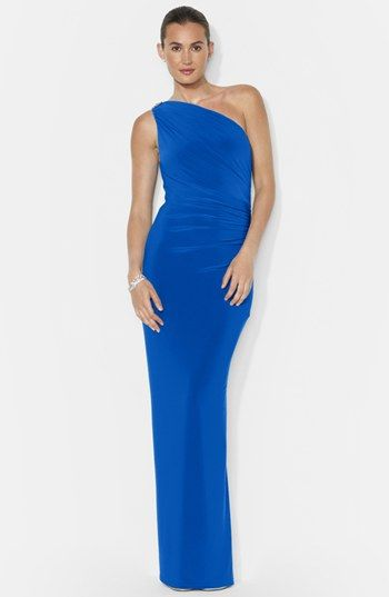 4451e6acb9e Lauren Ralph Lauren One Shoulder Matte Jersey Gown available at   Nordstrom.....on its way to ME!!!