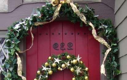 Decorazioni Fai Da Te Di Natale : Decorazioni fai da te di natale per la porta d ingresso