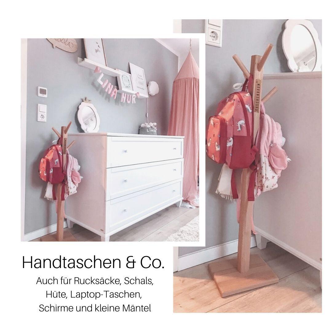 Handgefertigter Garderobenstander Aus Holz Massivholz Buche Masse H B T Cm 90 X 25 X 25 In 2020 Garderobe Stander Garderobe Neue Mobel