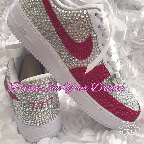 934ddec5e8 Swarovski Crystal Rhinestone Nike Air Force 1 Designed Shoes - Swarovski  Crystal Designs - Rhineston