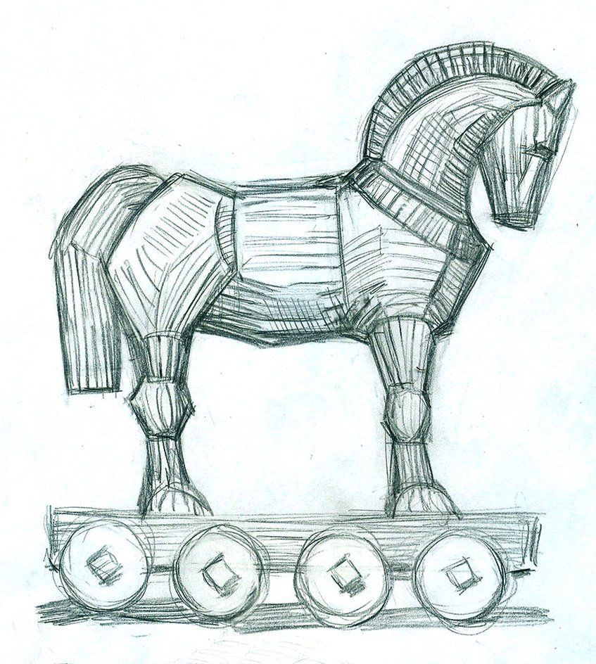 Trojan Horse Coloring Book Vector Horse Coloring Books Horse