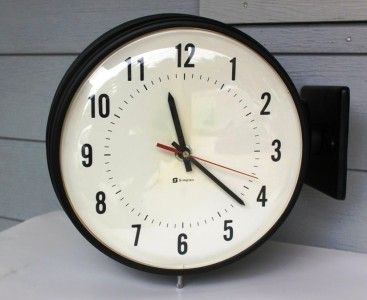 Simplex 2 Sided Double Faced School Wall Clock Clock Wall Clock Apartment Style