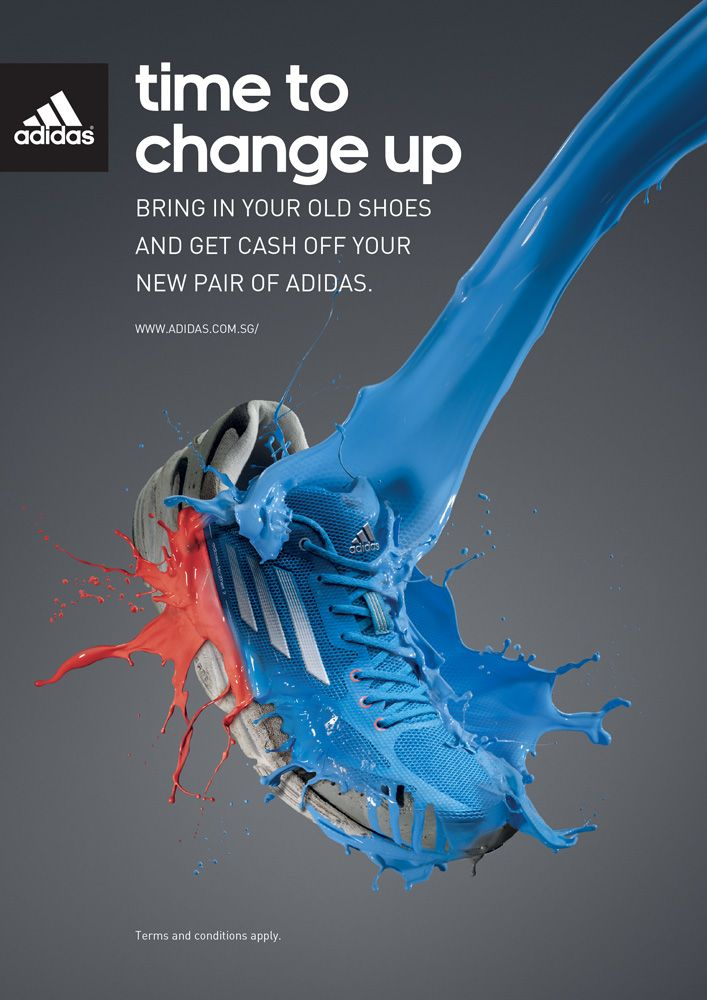 Time To Change Up Adidas Shoes Advertising Shoe Advertising Sports Advertising Shoe Poster