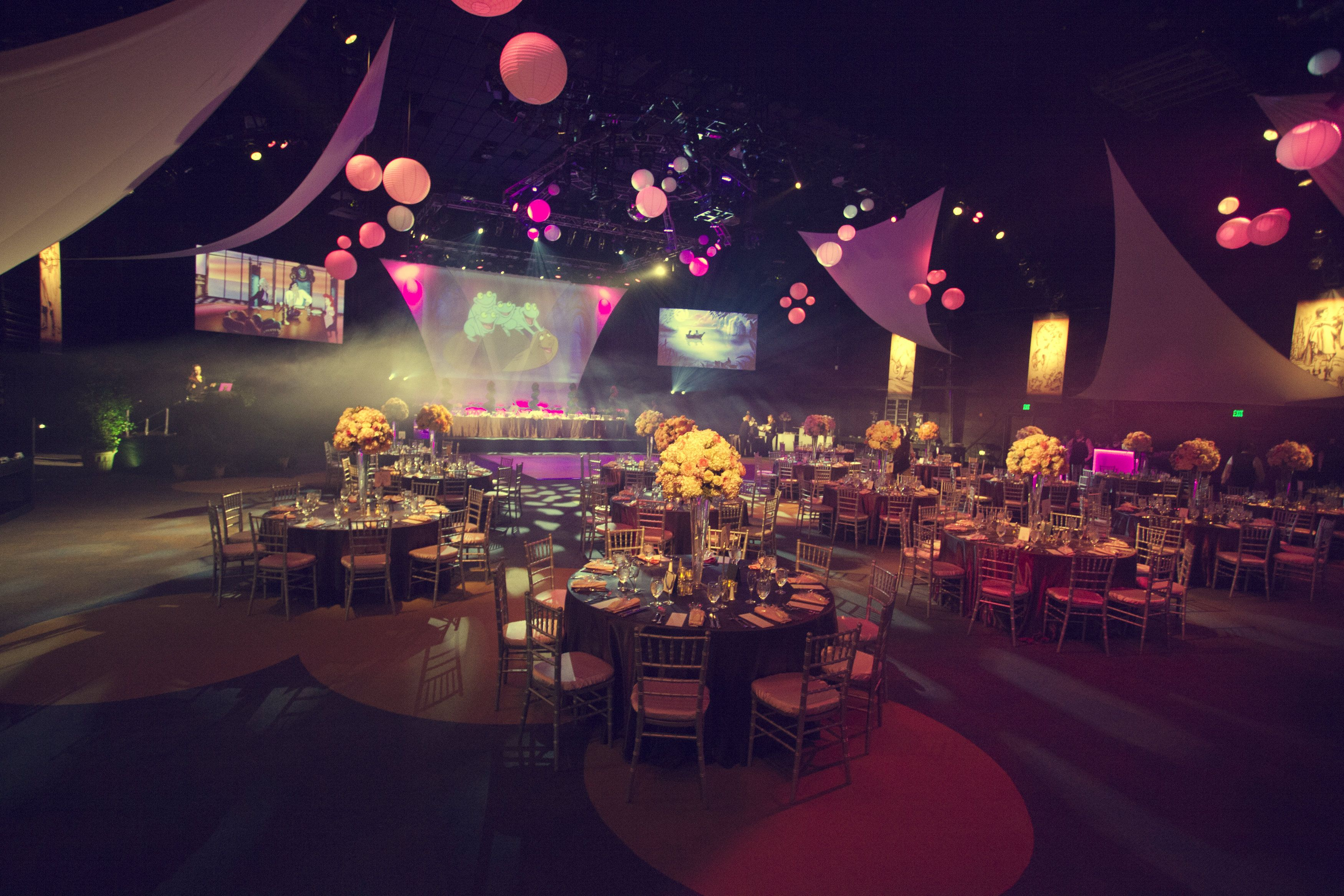 Our Reception Venue Stage 17 At California Adventure Disney Weddingssweet