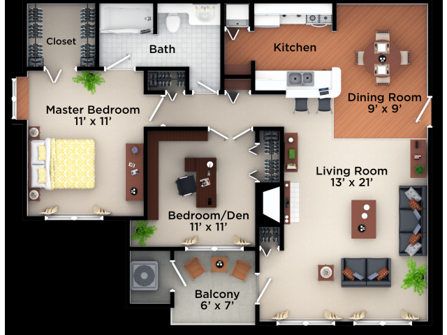 2 Bedroom 1 Bath Village Green On Franklin Village Green On Franklin Apartments