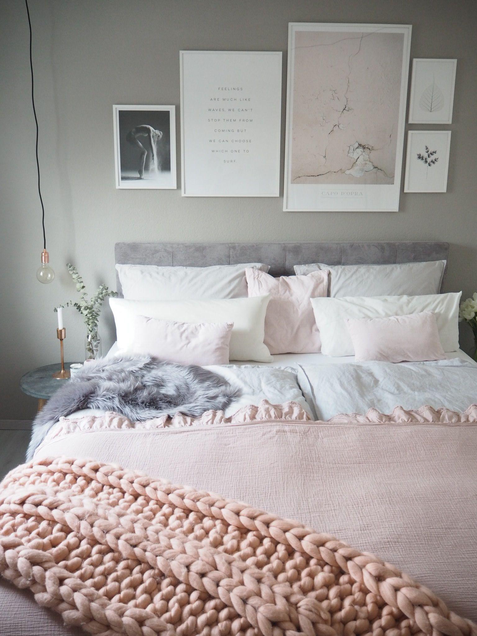 Blush bedroom #schlafzimmer #pastelltöne #kingsizebed  Wohnen