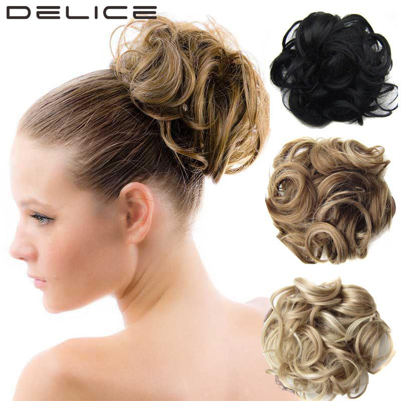 Delice 60g Women Wave Curly Elastic Drawstring Clip In On Big Hair